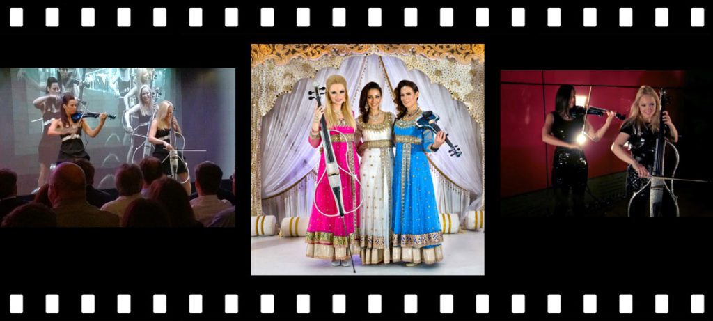 Bollywood Strings triptich including operforming at Leeds Indian Wedding