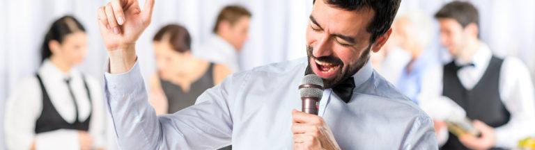 Singing Waiters perform wedding reception music Harrogate