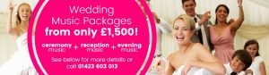 Wedding Music Packages from only £1500