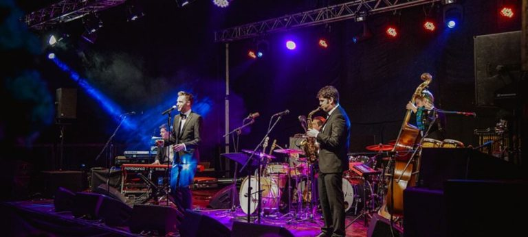 Sound of Jazz band perform for wedding guests at York wedding