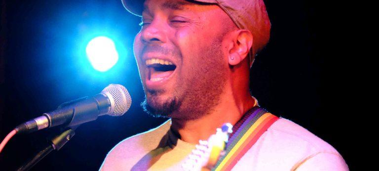 Acoustic guitarist Danny B sings wedding reception music at Harrogate wedding