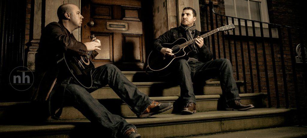 Nylon Duo prepare to play wedding ceremony music in York
